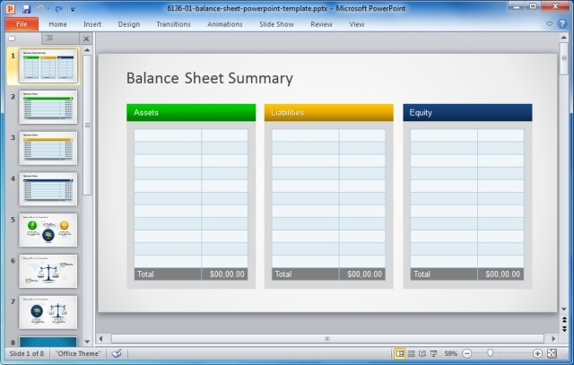 Simple Balance Sheet PowerPoint Template