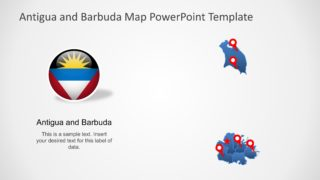 Antigua and Barbuda Map PowerPoint Template