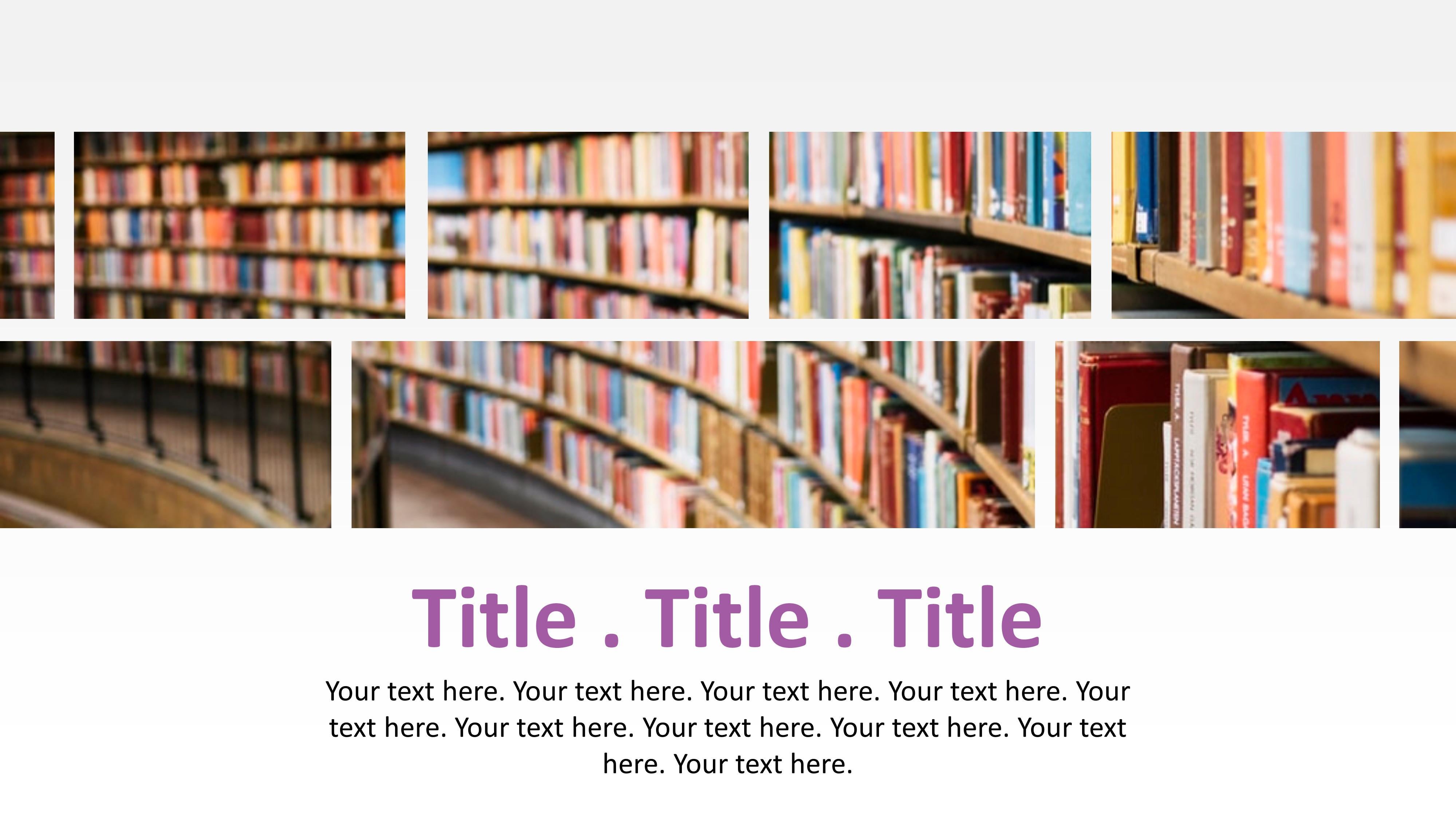 Editable Slides of Image and Text Horizontal Layout