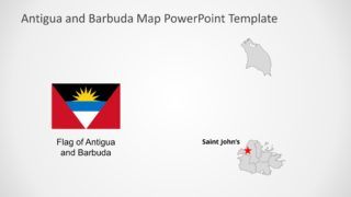 Antigua and Barbuda Map for PowerPoint