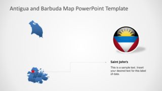 Editable PPT Map of Antigua and Barbuda