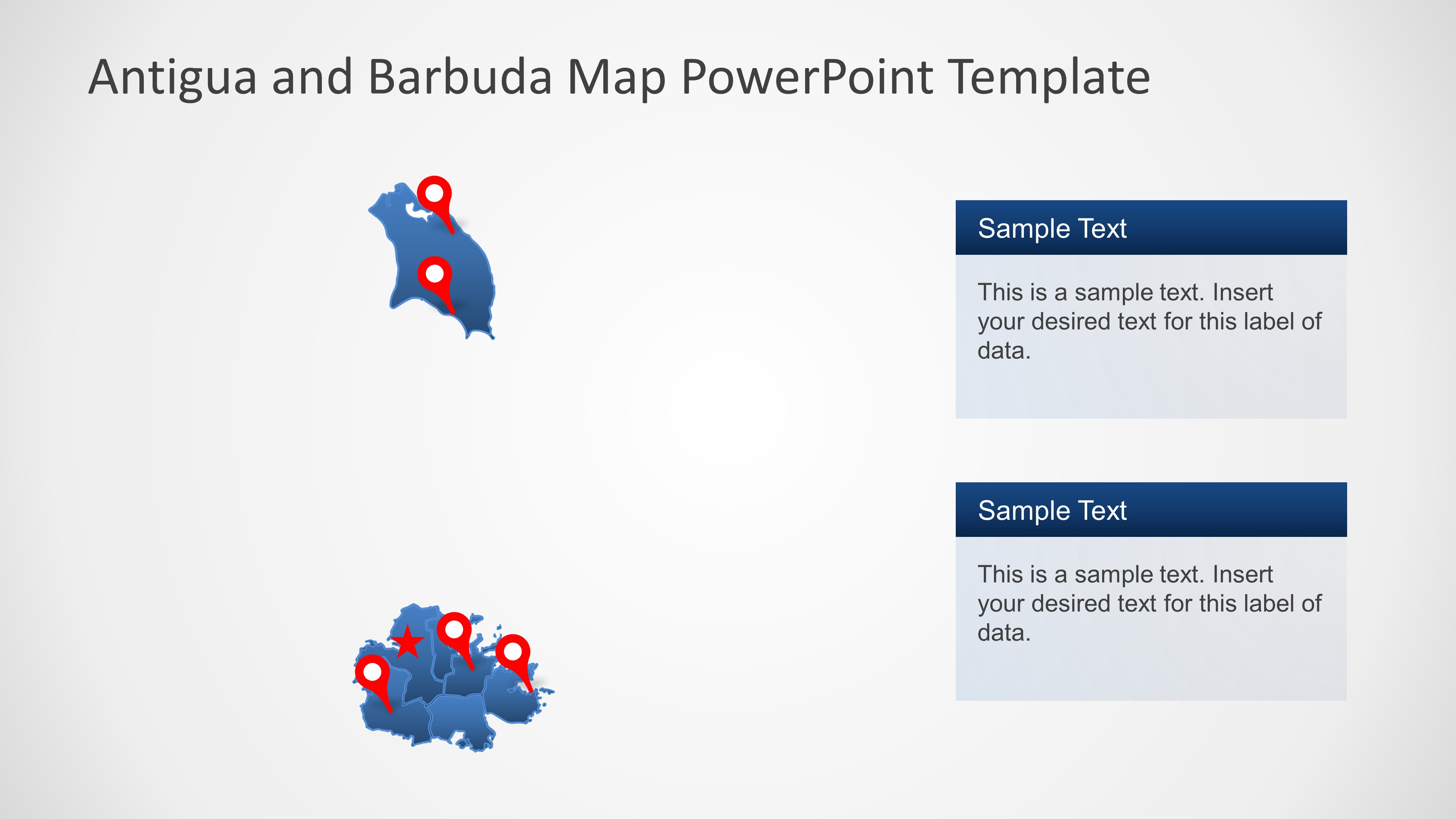PowerPoint Map of Antigua and Barbuda