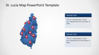 Editable PowerPoint Map of Saint Lucia