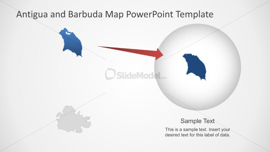 Highlight Map PowerPoint of Antigua and Barbuda