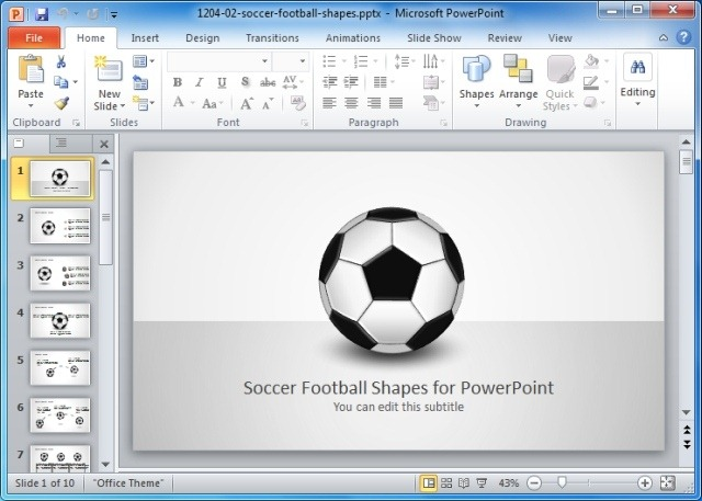 Game plan powerpoint templates for sports and strategic presentations soccer football shape for powerpoint toneelgroepblik Gallery