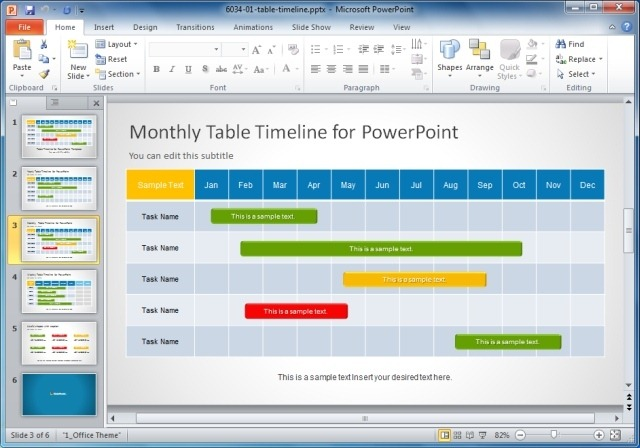 Creative templates for gantt charts project planning in powerpoint table timeline template for powerpoint toneelgroepblik Choice Image