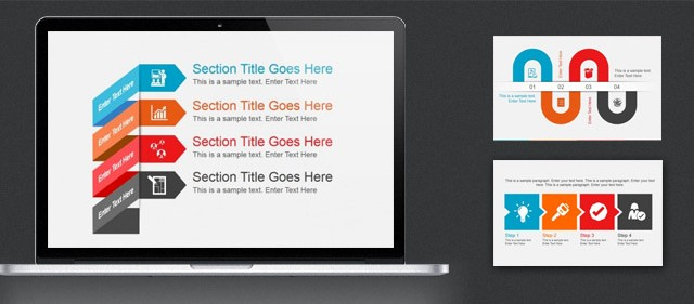 Flat Slides with Subtle Animations for PowerPoint Presentations