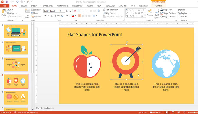 Arrow and Target Shape for PowerPoint