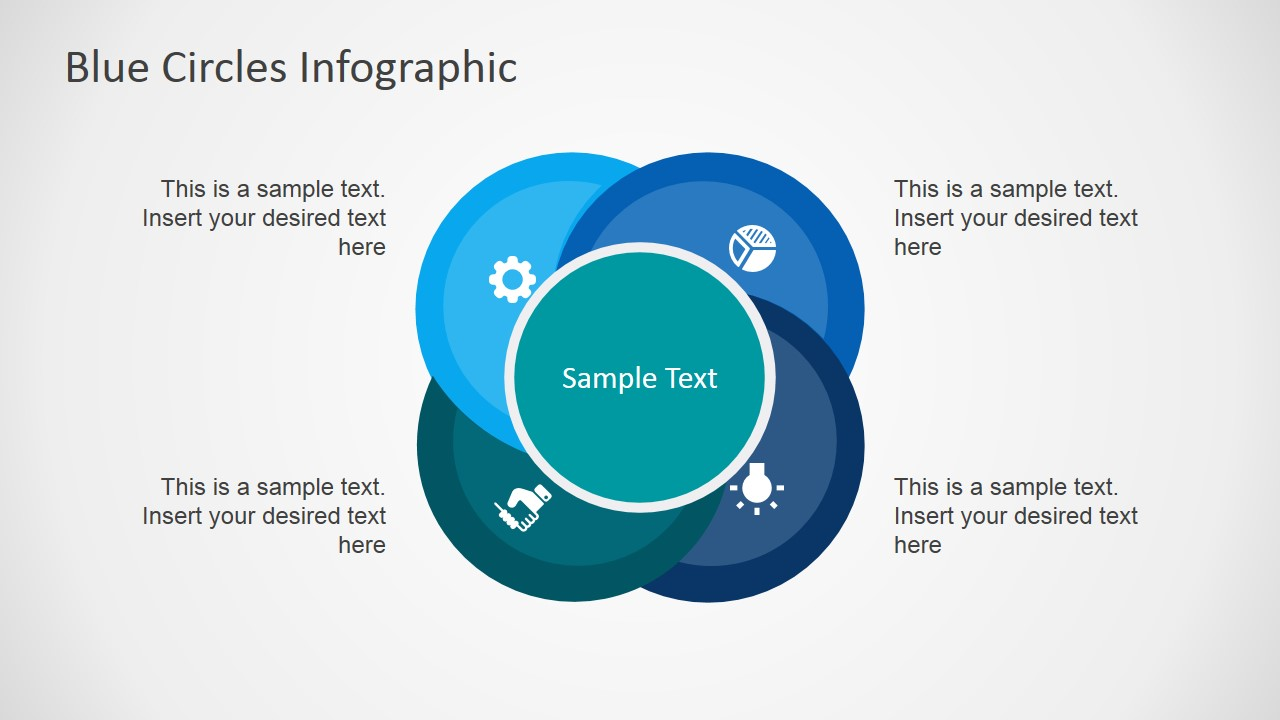 blue circles infographic powerpoint diagram