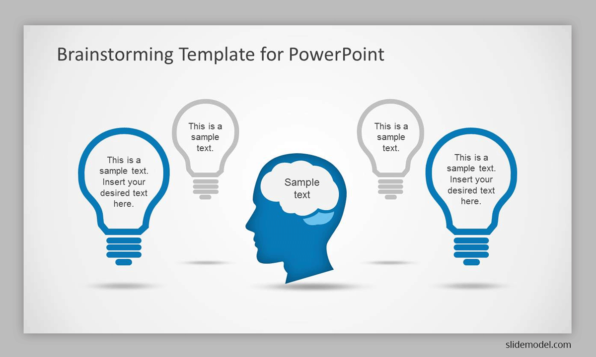 Brainstorming PowerPoint template slide design