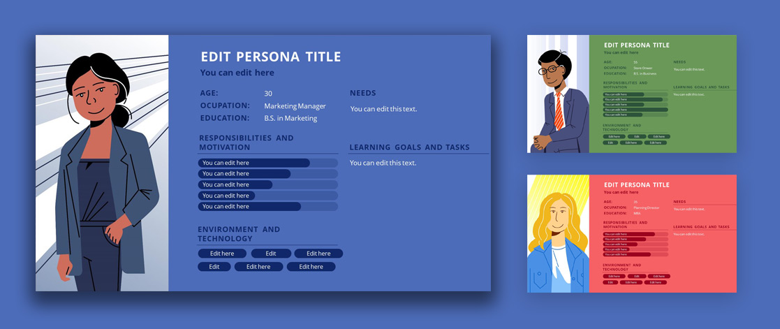 Buyer Persona Template Design for PowerPoint