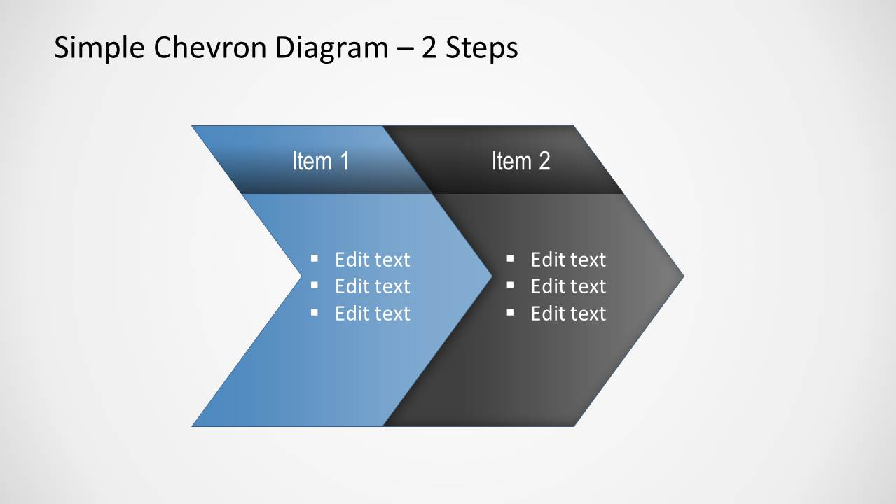 simple chevron diagram for powerpoint slidemodel