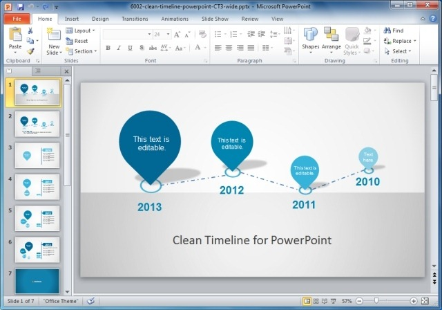 clean timeline design for PowerPoint
