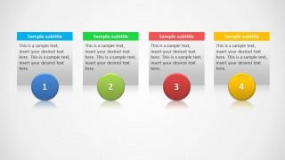 4 columns slide design for powerpoint slidemodel