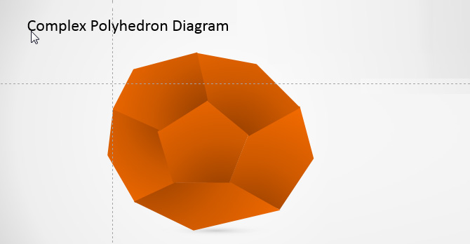 3D PowerPoint Shape of Pentagons