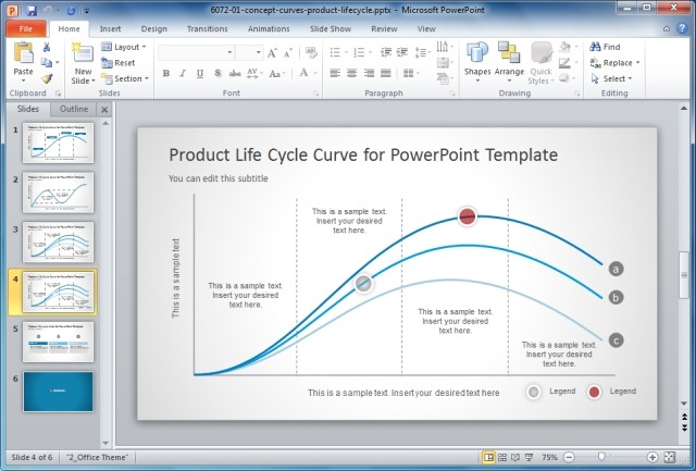 Show Popular Curves In PowerPoint With Awesome Lines Curve Designs - Awesome replace powerpoint template concept