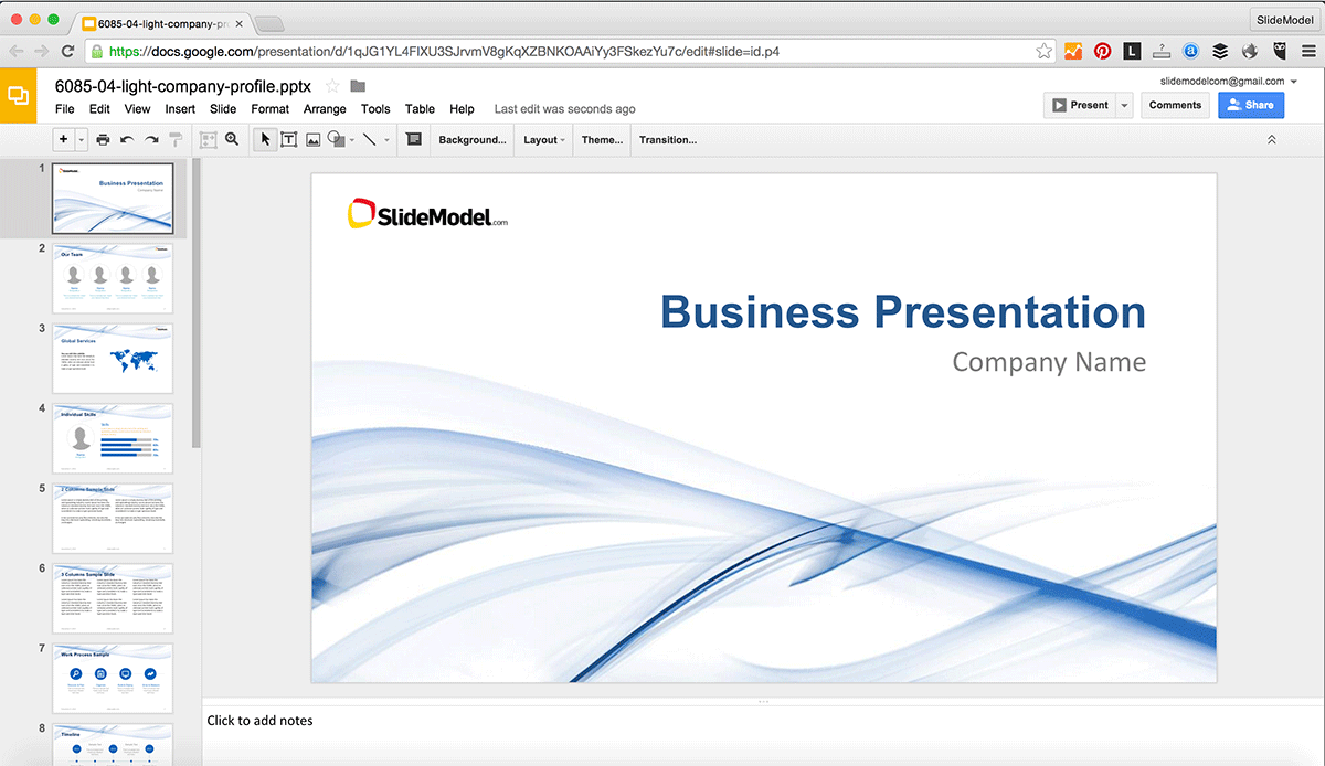 How to edit powerpoint templates in google slides slidemodel for Google doc powerpoint templates