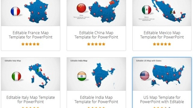 Download Editable PowerPoint Map for Your Country
