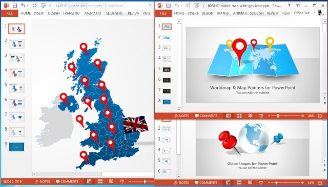 Make Sales Plans With Editable Territory Maps For PowerPoint - Sales territory business plan template
