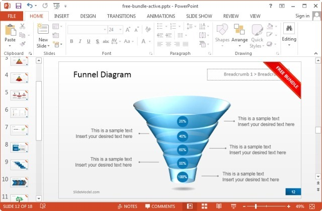 free funnel diagram for powerpoint