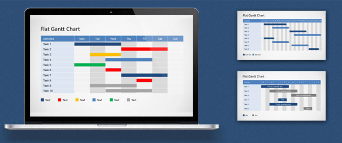 how to edit a gantt chart powerpoint template - slidemodel, Modern powerpoint