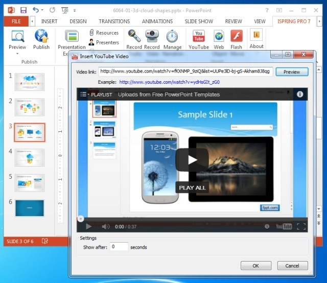 how to put video in powerpoint 2013