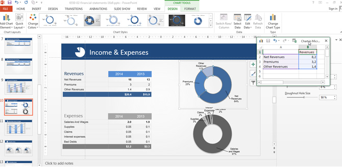 Income and Expenses Pie Chart PowerPoint