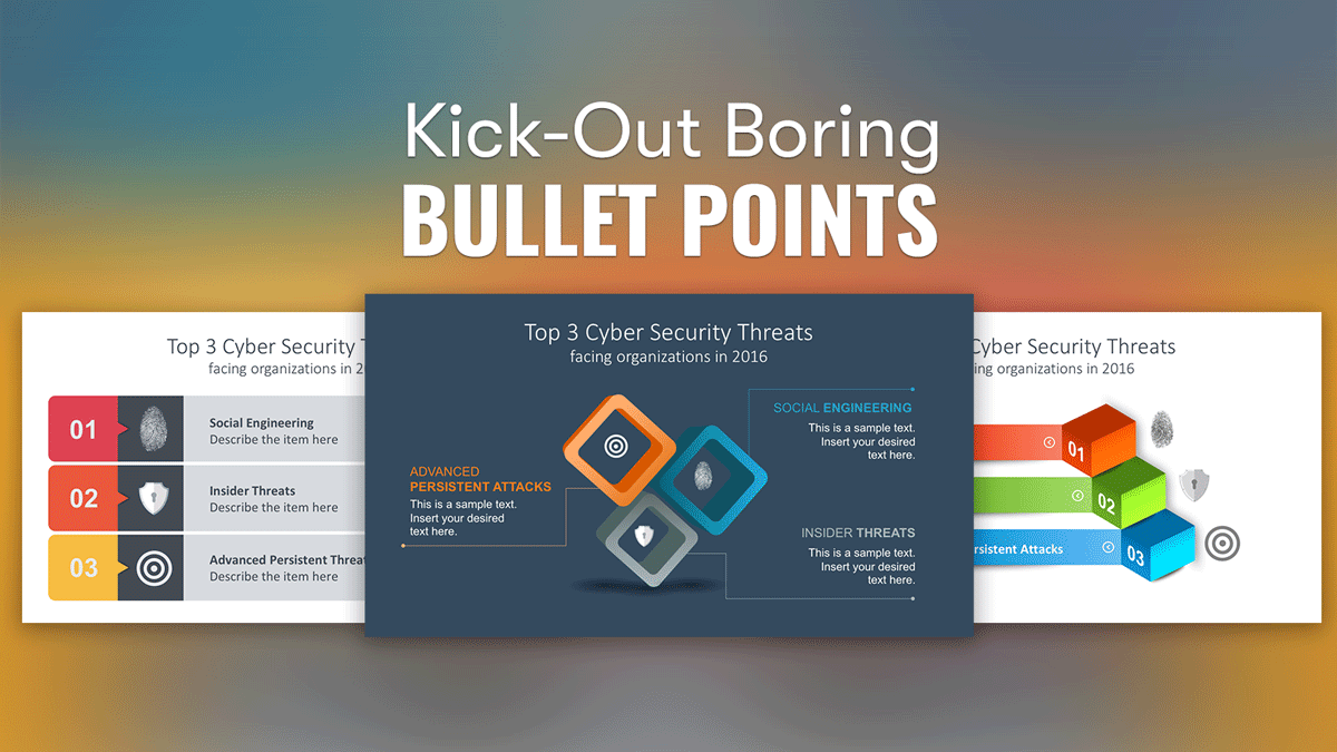 Quick Tips to Kick-Out Boring Bullet Points