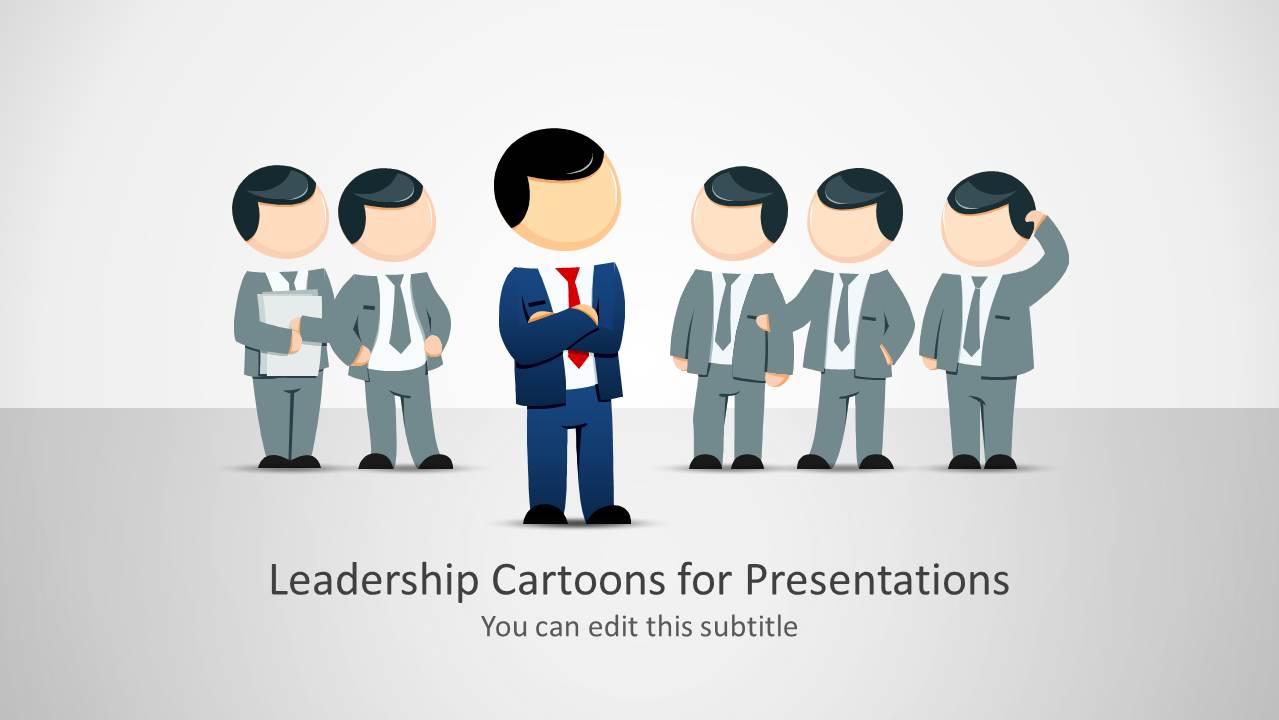 leadership cartoons for powerpoint presentations slidemodel