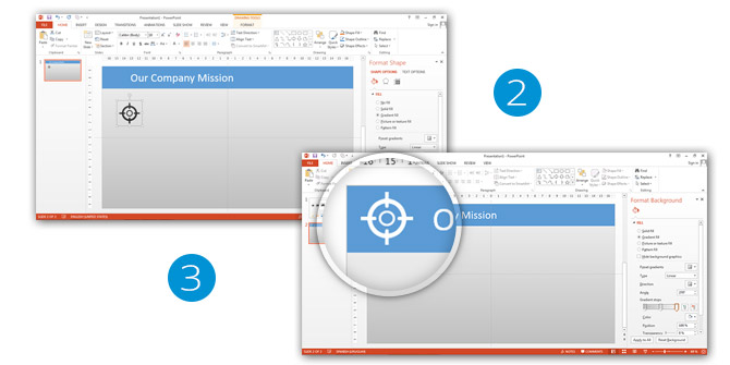 PowerPoint Icons Tutorial My Company Mission