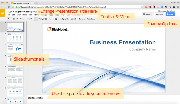 how to edit powerpoint templates in google slides slidemodel