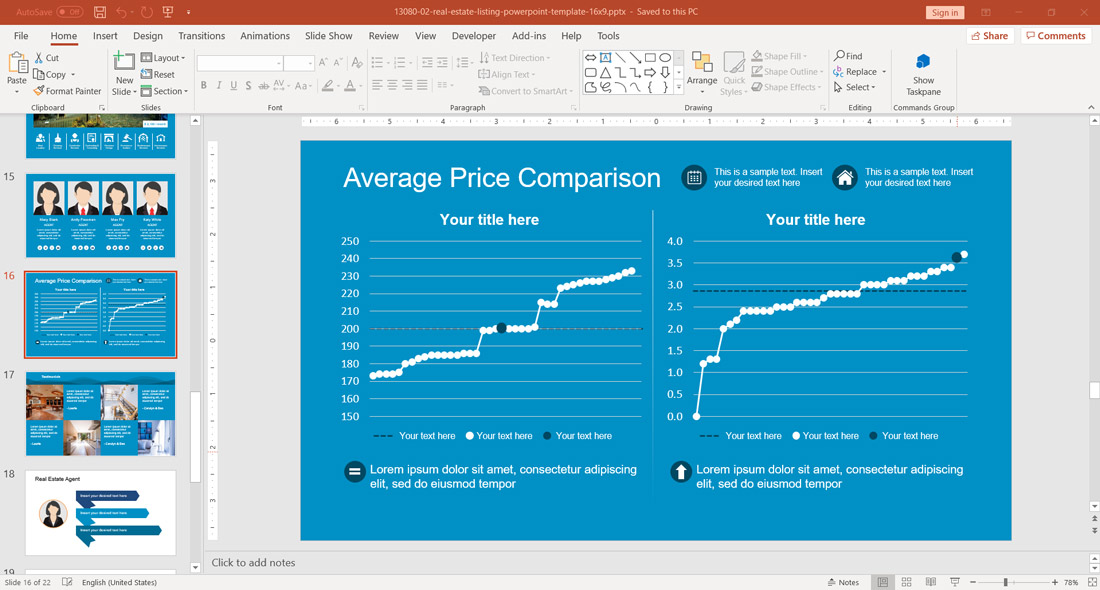 Price Comparison Real Estate Houses Slide design for PowerPoint