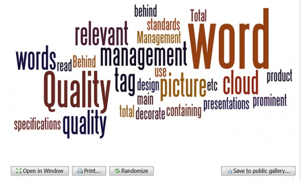 Randomize Words in a Tag Cloud