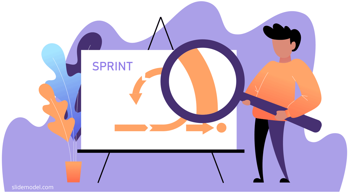 Retrospective Illustration Agile Sprint