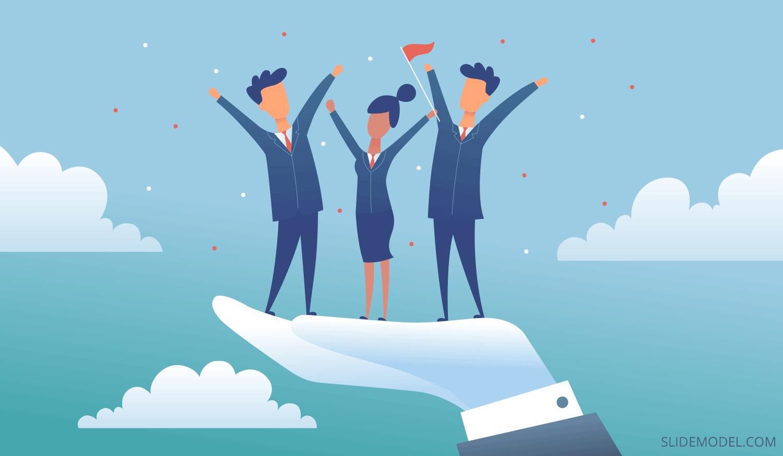 Servant Leadership Illustration created by SlideModel