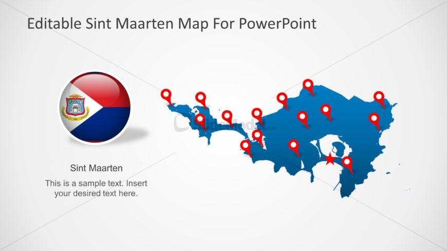 Outline Map of Sint Maarten