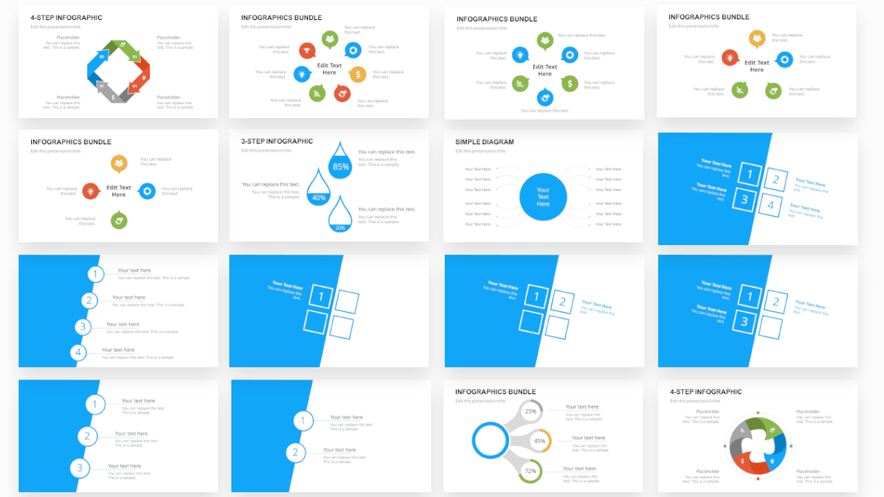 Free PPT Templates for Infographics and Diagrams
