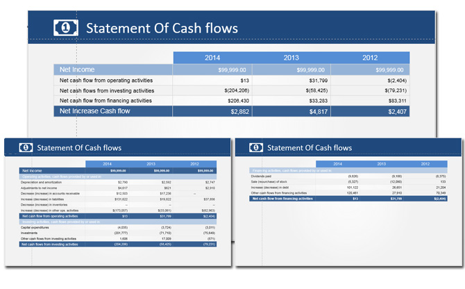 Statement of Cashflows PowerPoint Templates