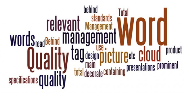 Wordle Screenshot for Tag Clouds in Presentations