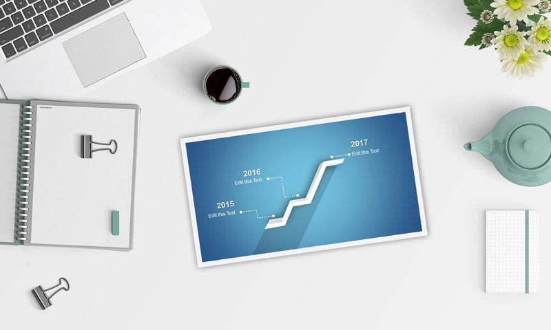 Timeline Slide Presentation Laptop computer