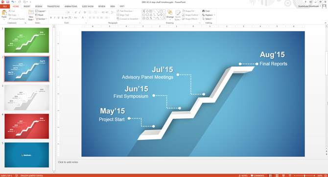 How to edit the timeline template in powerpoint slidemodel for Ms powerpoint timeline template