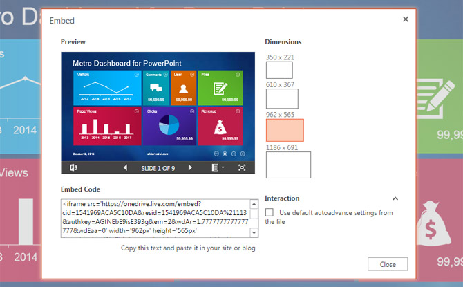 upload view embed presentations with powerpoint online viewer