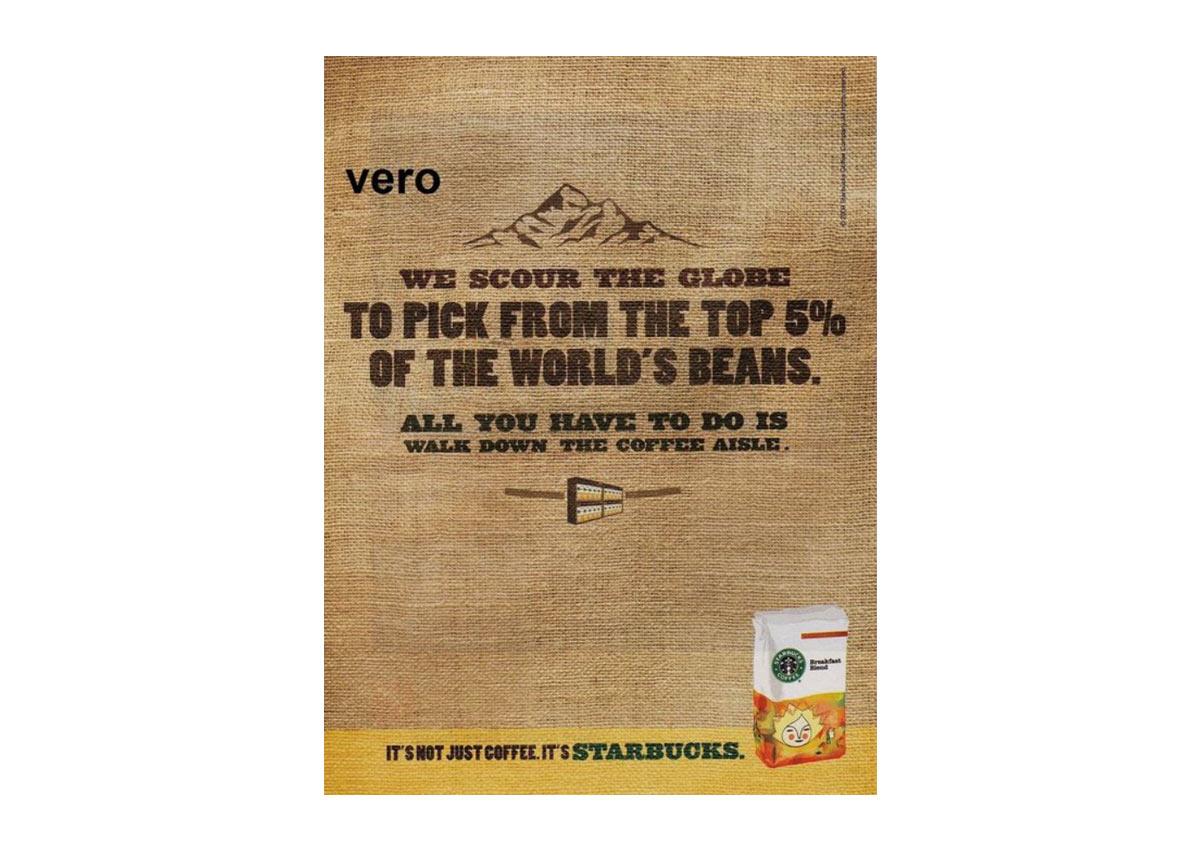 Vero Starbucks Ad Example