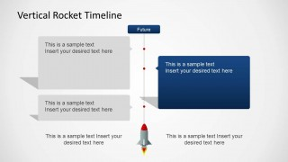 Vertical Timeline Slide Design with Rocket