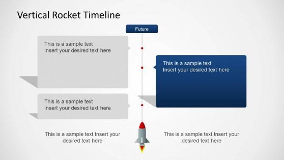 Vertical Timeline Slide Design with Rocket