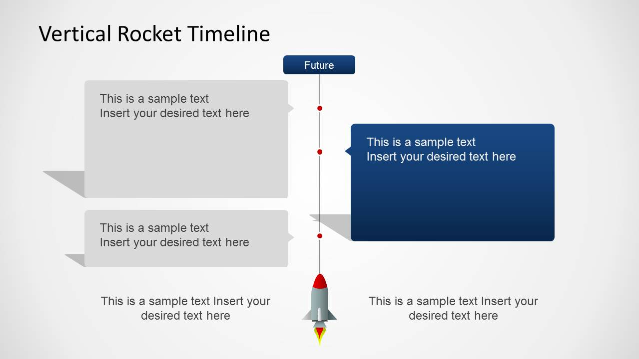 Vertical rocket timeline template for powerpoint slidemodel four years vertical timeline with rocket for powerpoint vertical timeline slide design with rocket toneelgroepblik Image collections