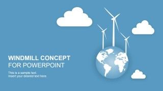 PowerPoint Shapes of Electric Windmill