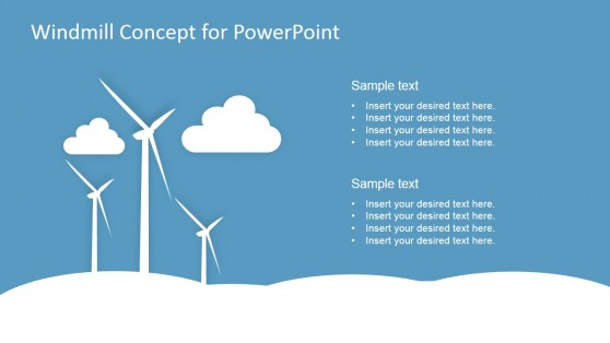 PowerPoint Eolic Turbine Graphics for PowerPoint